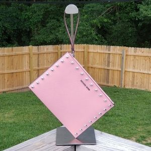 Michael Kors Jet Set XL Zip Clutch Wristlet Pink
